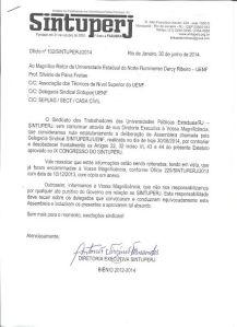 Ofício nº102lSINTUPERJl2014 30 DE JUNHO 2014