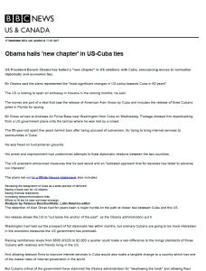 Cuba BBC
