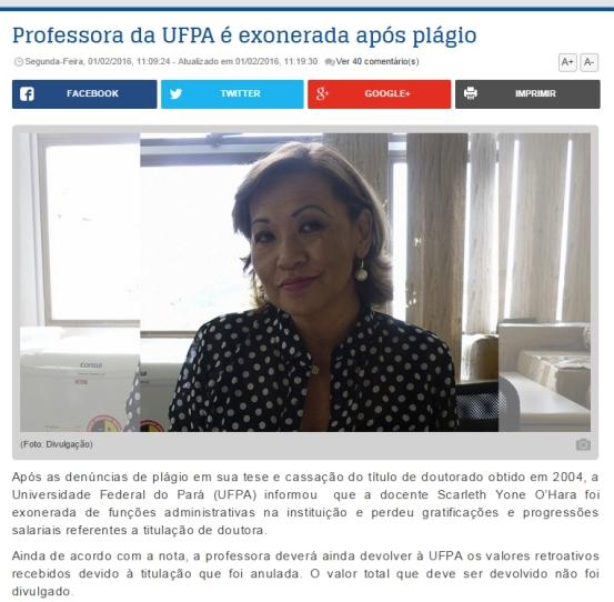 ufpa exoneração