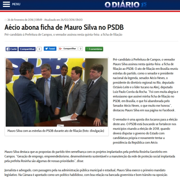 filiação PSDB