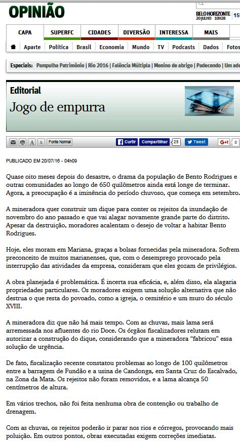 Editorial O Tempo