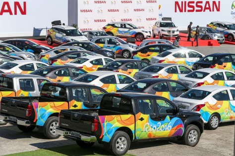 Nissan cars at the Rio 2016 Olympic fleet / Credit: Nissan