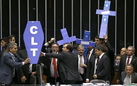 Votação da reforma trabalhista no plenário da Câmara