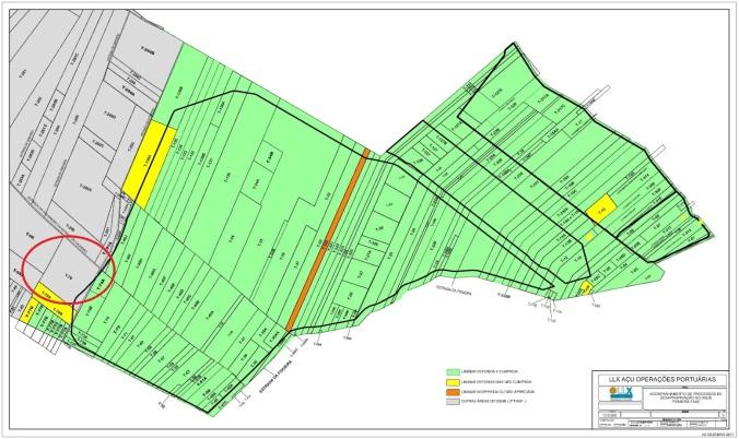 Mapa dos processos de desapropriação no Açu