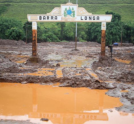 Municipio Barra Longa-MG, atingido pela lama da barragem de mine