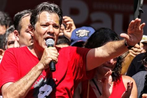 O candidato à Presidência da República pelo PT, Fernando Haddad