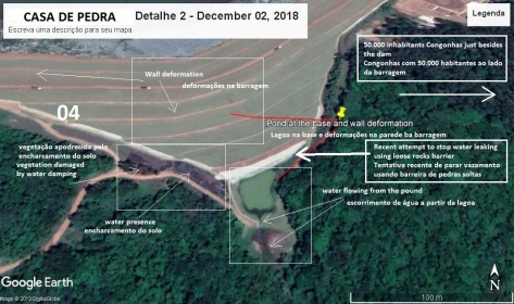 Barragem Casa de Pedra - Detalhe - # 2 - 02 de dezembro de 2018