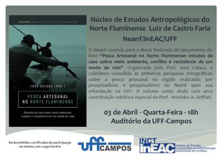 Convite de lançamento Pesca Artesanal no Norte Fluminense