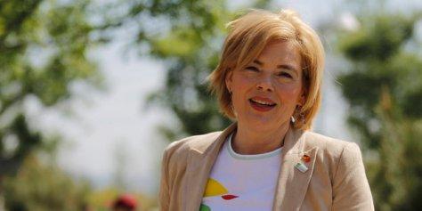 Landwirtschaftsministerin auf Garten-Expo in Peking