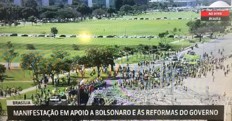 manifestação brasilia