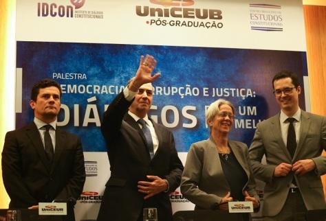 Palestra Democracia, Corrupção e Justiça, no UniCEUB
