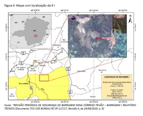 mapa barragem