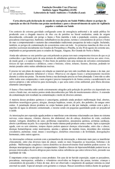 carta fiocruz 1