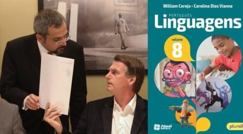 Bolsonaro-e-Weintraub-vs-Livro-Portugues-e-Linguagens