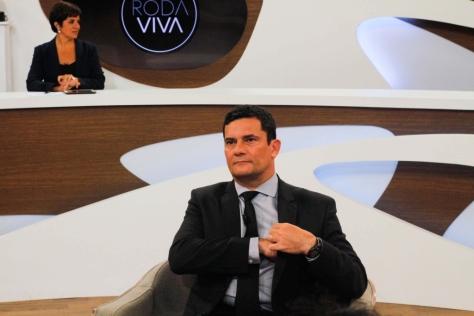 Ministro Sérgio Moro no Roda Viva.