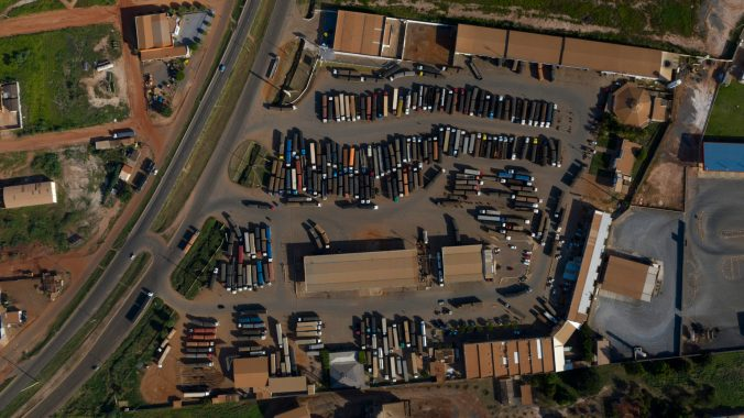Soya Transport Trucks in Bahia State, Brazil Cerrado Brasileiro e Produção de Soja