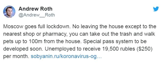 moscou lockdown