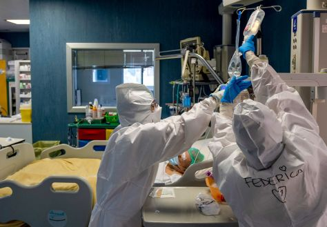 Inside Rome's San Filippo Neri Hospital During The Fight Against Coronavirus