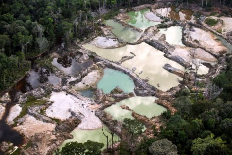 Illegal Gold Mine near Macapa Brazil