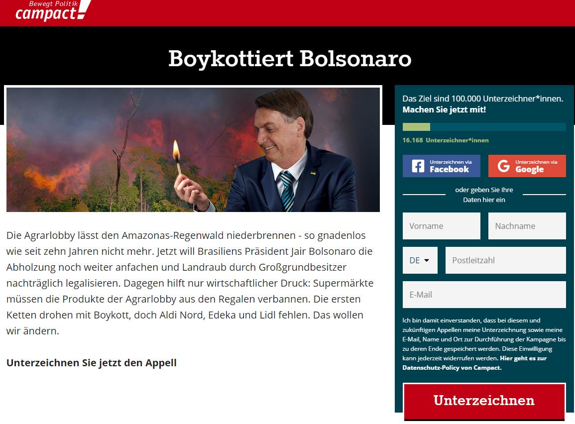 boicote bolsonaro