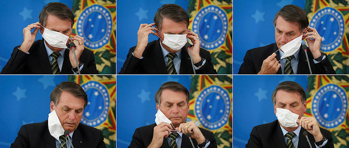 bolsonaro mascara