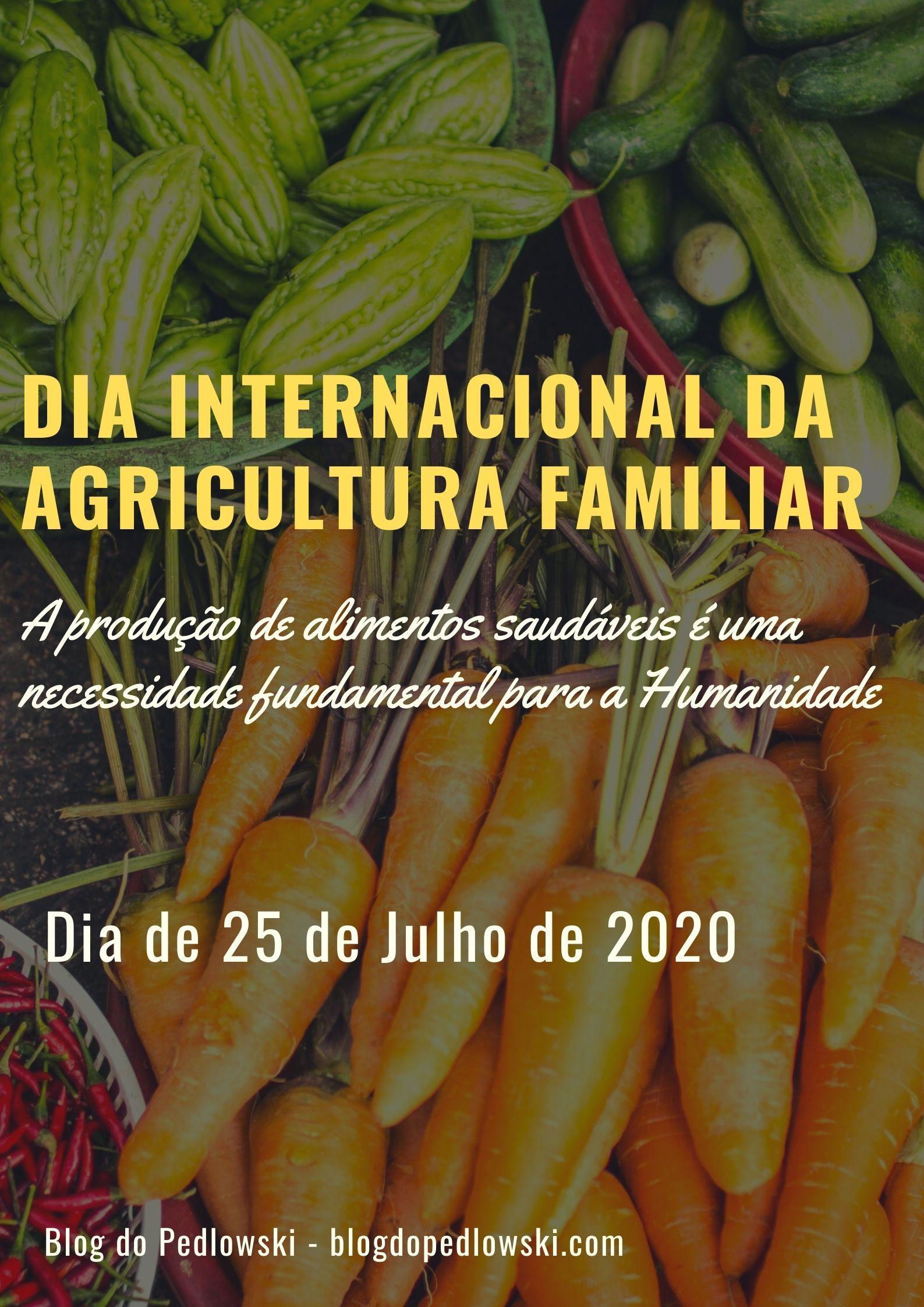 DIA INTERNACIONAL DA AGRICULTURA FAMILIAR