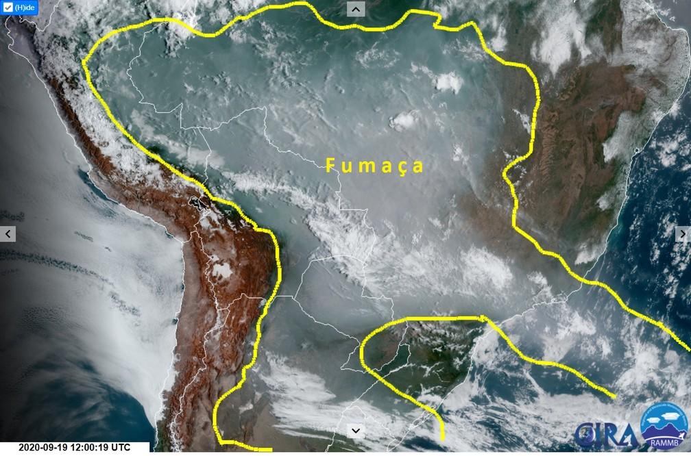 fumaça na América do Sul