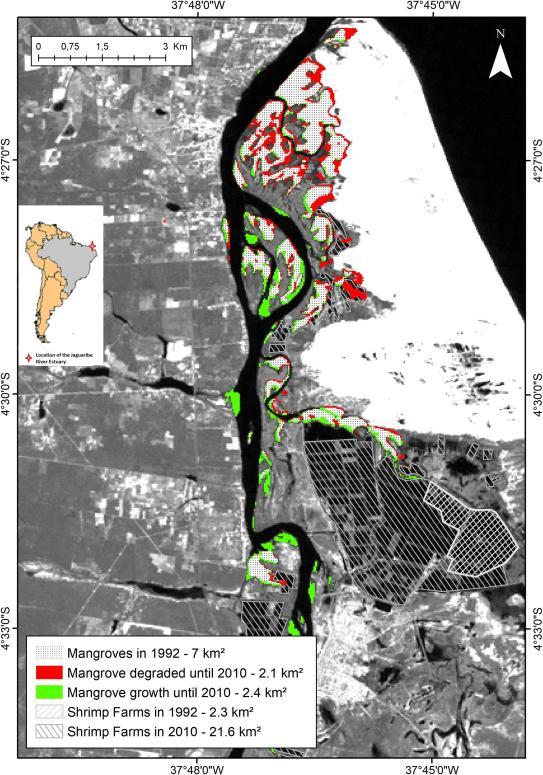 mapa criação de camarão