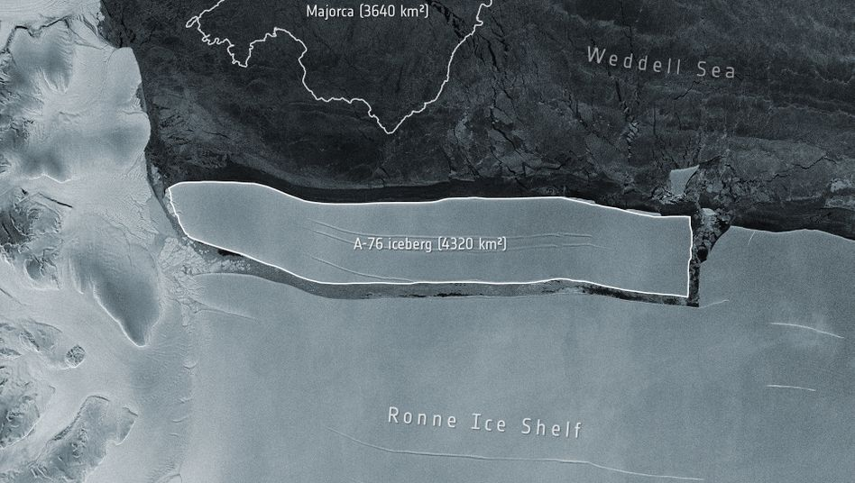 Eisberg vom Ronne Ice Shelf