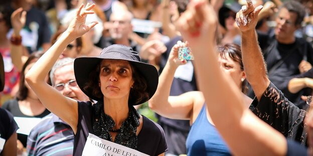 BELO HORIZONTE MG 24 02 2019 PROTEST AGAINST VALE IN BH Protestors petitioned for justice duri